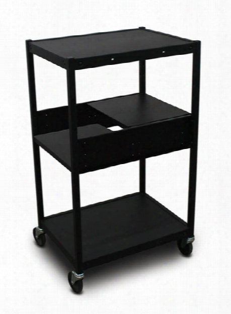 Cart With 2 Pull-out Side-shelves By Marvel