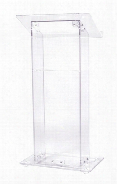 Clear Acrylic Podium By Oklahoma Sound
