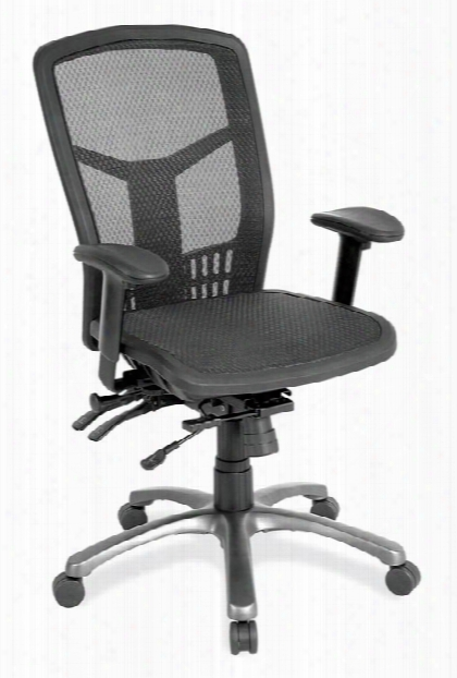 Cool Mesh High Back Chair With Mesh Seat And Aluminum Base By Office Source