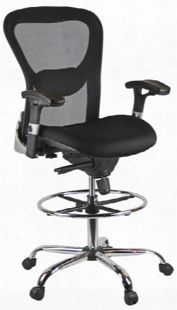 Deluxe Mesh Drafting Stool With Arms By Harwick Chairs
