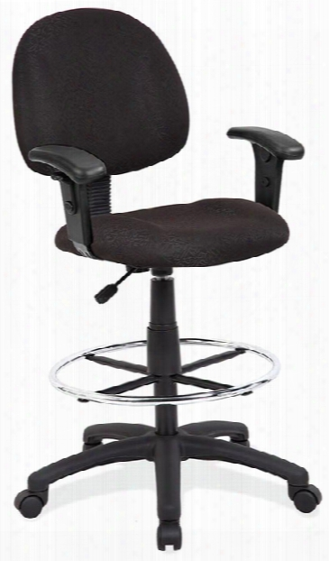 Deluxe Posture Stool With Arms And Footring By Office Source