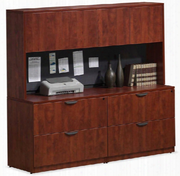 Double Lateral File Storage With Hutch By Office Source