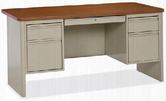 Double Pedestal Steel Desk By Office Source