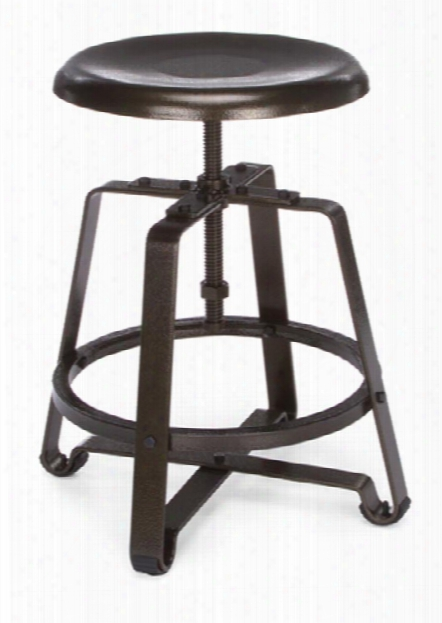 Endure Small Stool With Metal Seat By Ofm