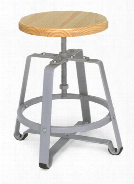 Endure Small Stool With Wood Seat By Ofm