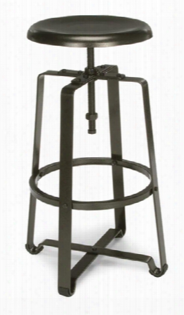 Endure Tall Stool With Metal Seat By Ofm