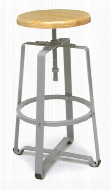 Endure Tall Stool With Wood Seat By Ofm