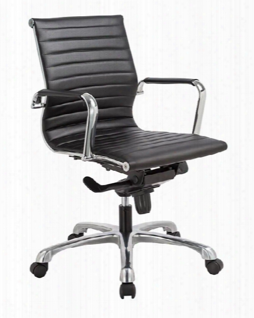 Executive Mid Back Chair With Chrome Frame And Arm Covers By Ofifce Source