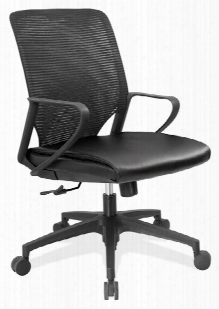 Executive Mid Back Leather & Mesh Chair By Office Source