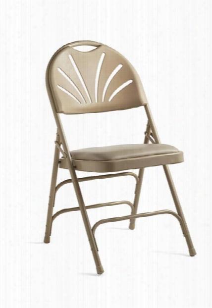 Fanback Steel & Vinyl Folding Chair By Samsonite