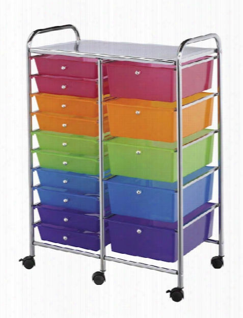 Fifteen Drawer Storage Cart By Alvin