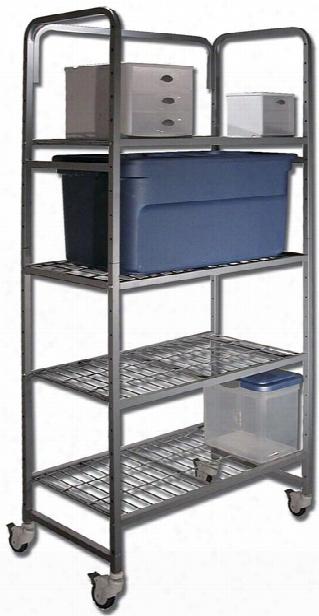 Four Shelf Mobile Storage Rack By Buddy Products