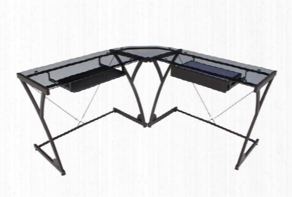Glass Corner L Shaped Desk By Regency Furniture