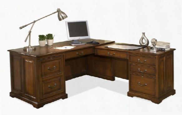 L Shaped Computer Desk By Riverside