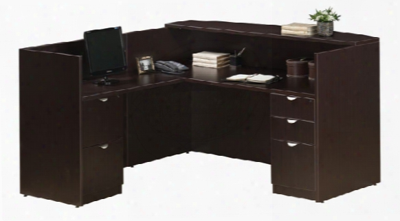 L Shaped Reception Desk With Full Pedestals By Office Source
