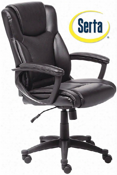 Leather Executive Chair By Serta Seating