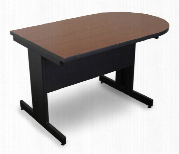 Marvel Vizion Peninsula Laminate Top Side Table With Modesty Panel - (cherry Laminate) By Marvel