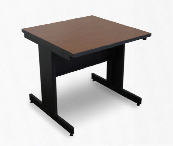 Marvel Vizion Rectangular Laminate Top Side Table With Modesty Panel - (cherry Laminate) By Marvel