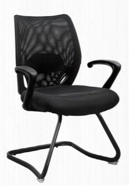 Mesh Back Guest Chair With Arms By Marquis