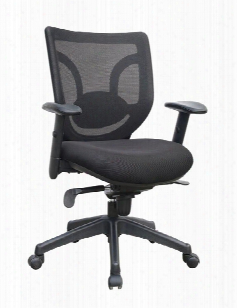 Mesh Back Managerial Chair With Arms By Marquis