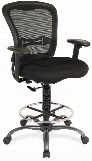 Mesh Back Stool With Arms By Office Source