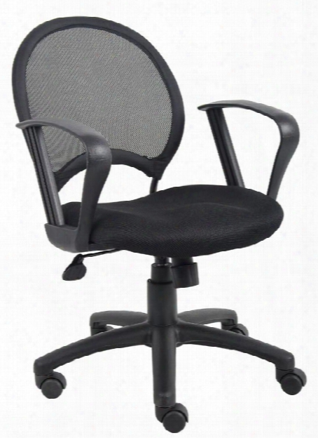 Mesh Task Chair With Loop Arms By Boss Office Chairs