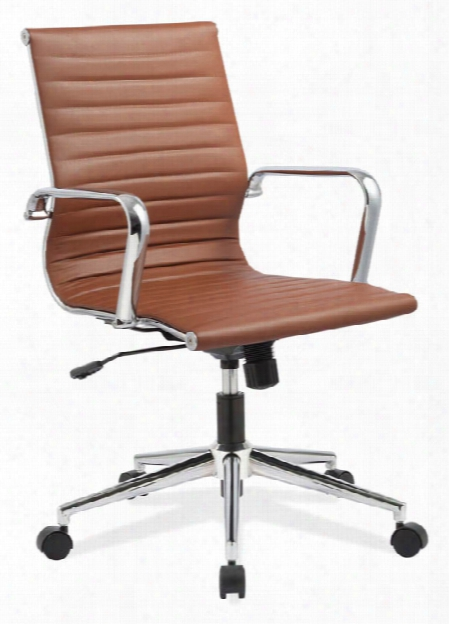 Mid Back Chair With Aluminum Frame By Office Source