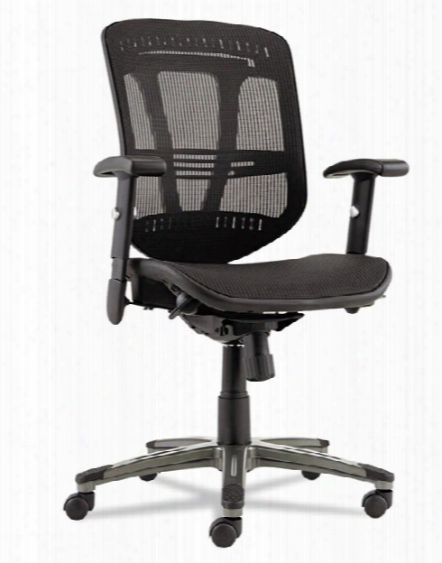 Mid Back Chair With Mesh Seat By Alera