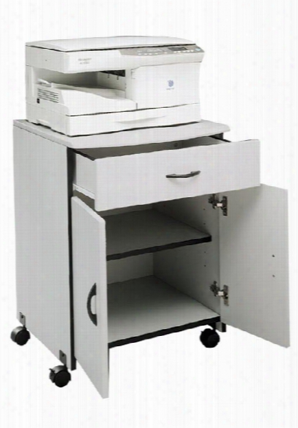 Mobile Wood Machine Stand With Drawer By Buddy Products