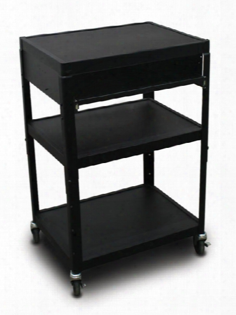 Mv2642 Cart With 1 Pull-out Front-shelf And Electrical By Marvel