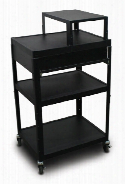 Mv2642 Cart Witj 1 Pull-out Front-shelf And Expansion Shelf By Marvel