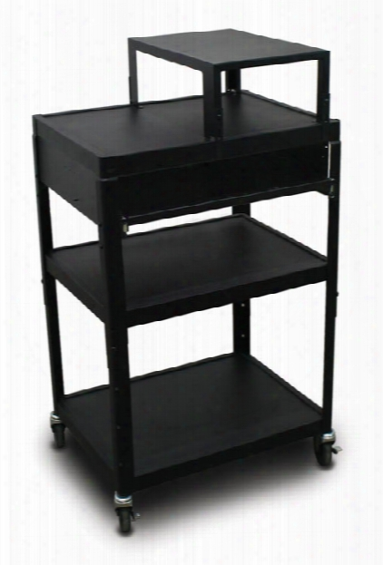 Mv2642 Cart With 1 Pull-out Front-shelf, Expansion Shelf, And Electrical By Marvel