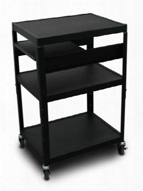 Mv2642 Cart With 1 Pull-out Side-shelf By Marvel