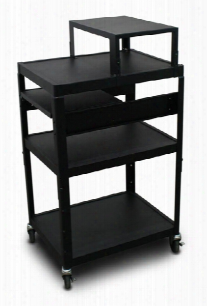 Mv2642 Cart With 1 Pull-out Side-shelf, Expansion Shelf, And Electrical By Marvel