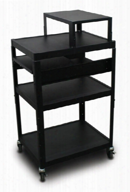 Mv2642 Cart With 2 Pull-out Side-shelves And Expansion Shelf By Marvel