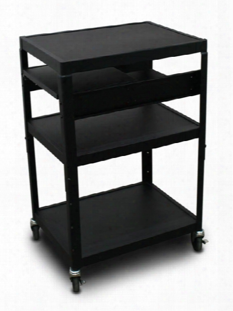 Mv2642 Cart With 2 Pull-out Side-shelves By Marvel