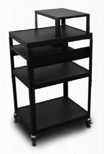Mv2642 Cart With 2 Pull-out Side-shelves, Expansion Shelf, And Electrical By Marvel