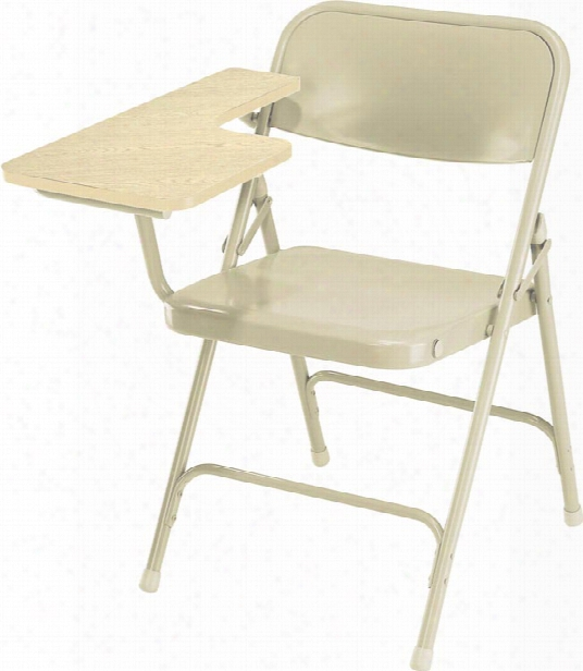Premium All Steel Folding Chair With Tablet Arm By National Public Seating