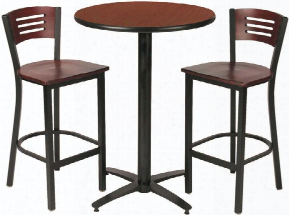 Round Pub Table With 2 Stools By Kfi Seating