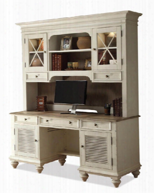 Shutter Door Credenza With Hutch By Riverside