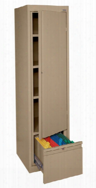 Single Drawer Storage Cabinet With File Drawer By Sandusky Lee