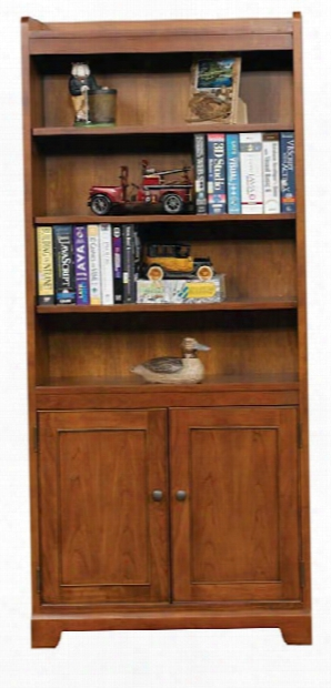 "Solutions 72""h Bookcase With Doors By Wilshire Furniture"