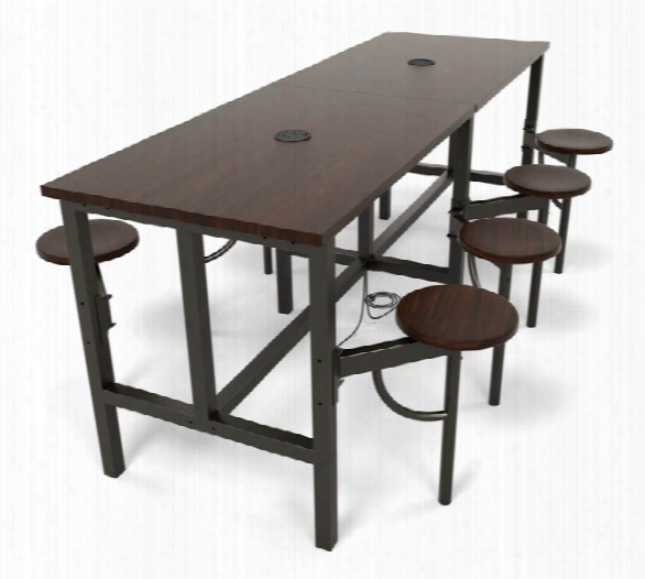 Standing Height Eight Seat Table By Ofm
