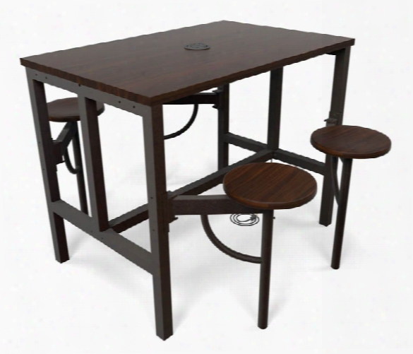 Standing Height Four Seat Table By Ofm