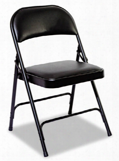 Steel Folding Chair With Padded Back & Seat By Alera