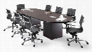 8' Racetrack Conference Table with Cube Bases by Office Source