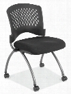 Armless Nesting Chair with Casters by Office Source