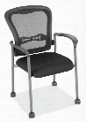 Mobile Mesh Back Guest Chair with Arms by Office Source