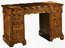 Oval Inlay Top Wood Pedestal Desk by Hekman Furniture