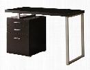 Single Pedestal Compact Desk by Monarch